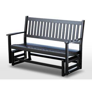 franklin springs hardwood porch glider bench - Porch Gliders