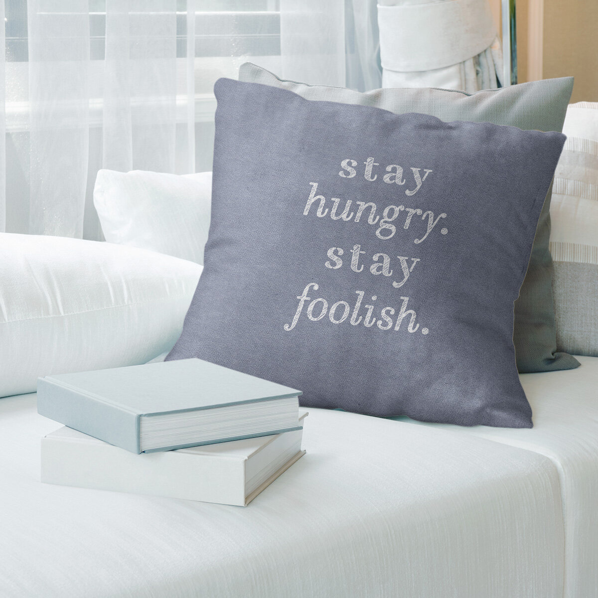 East Urban Home Handwritten Stay Hungry Quote Pillow Wayfair
