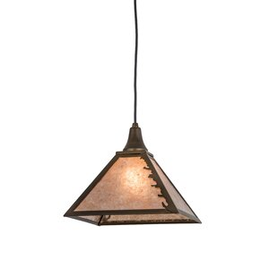 Leafs Edge 1-Light Square/Rectangle Pendant by Meyda Tiffany