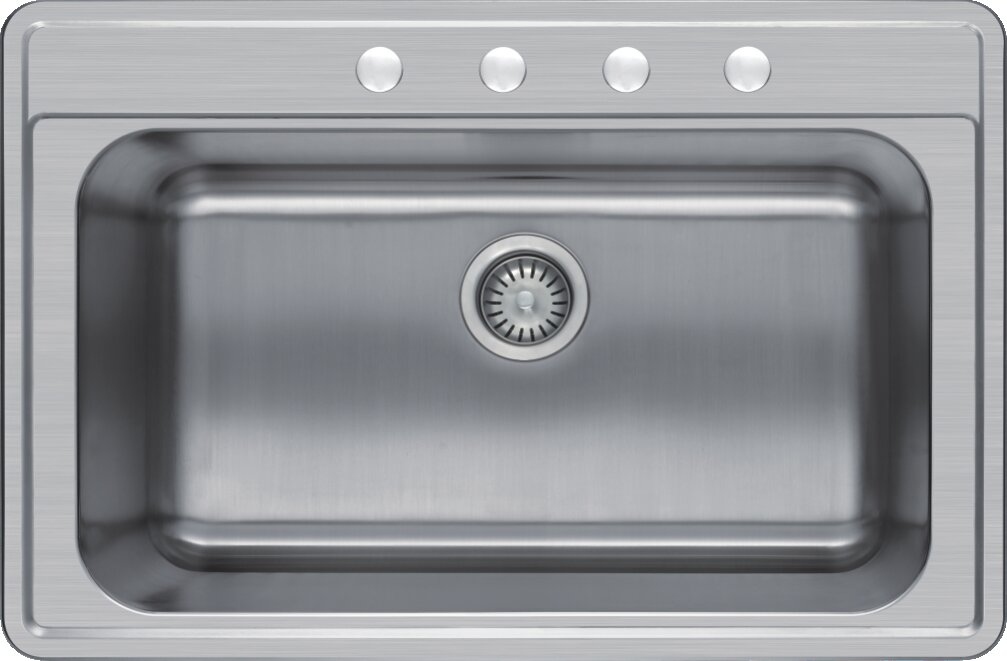 Single Basin Kitchen Sink 33 X 22 Winpro 33 x 22 single basin drop in kitchen sink reviews wayfair workwithnaturefo