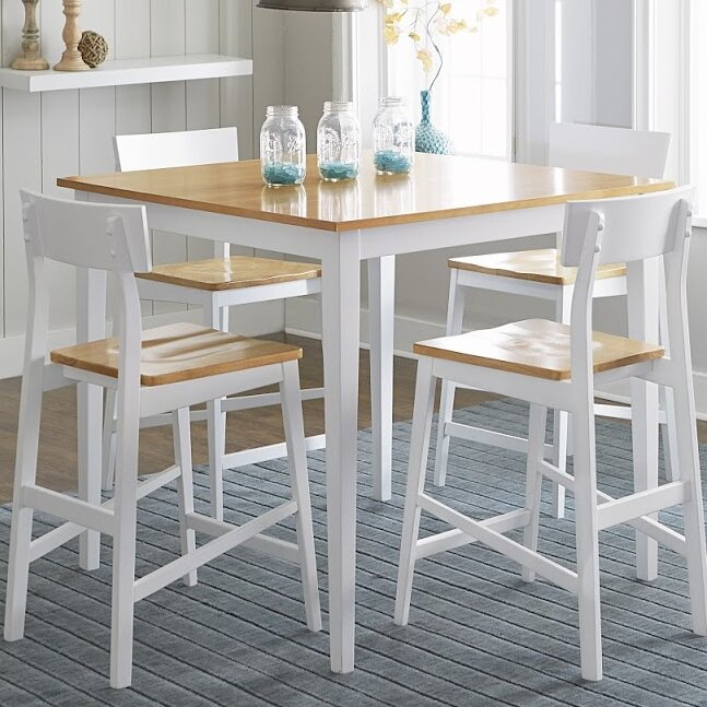 White Cane Outdoor Furniture, Beachcrest Home Finley Counter Height Dining Table Reviews Wayfair