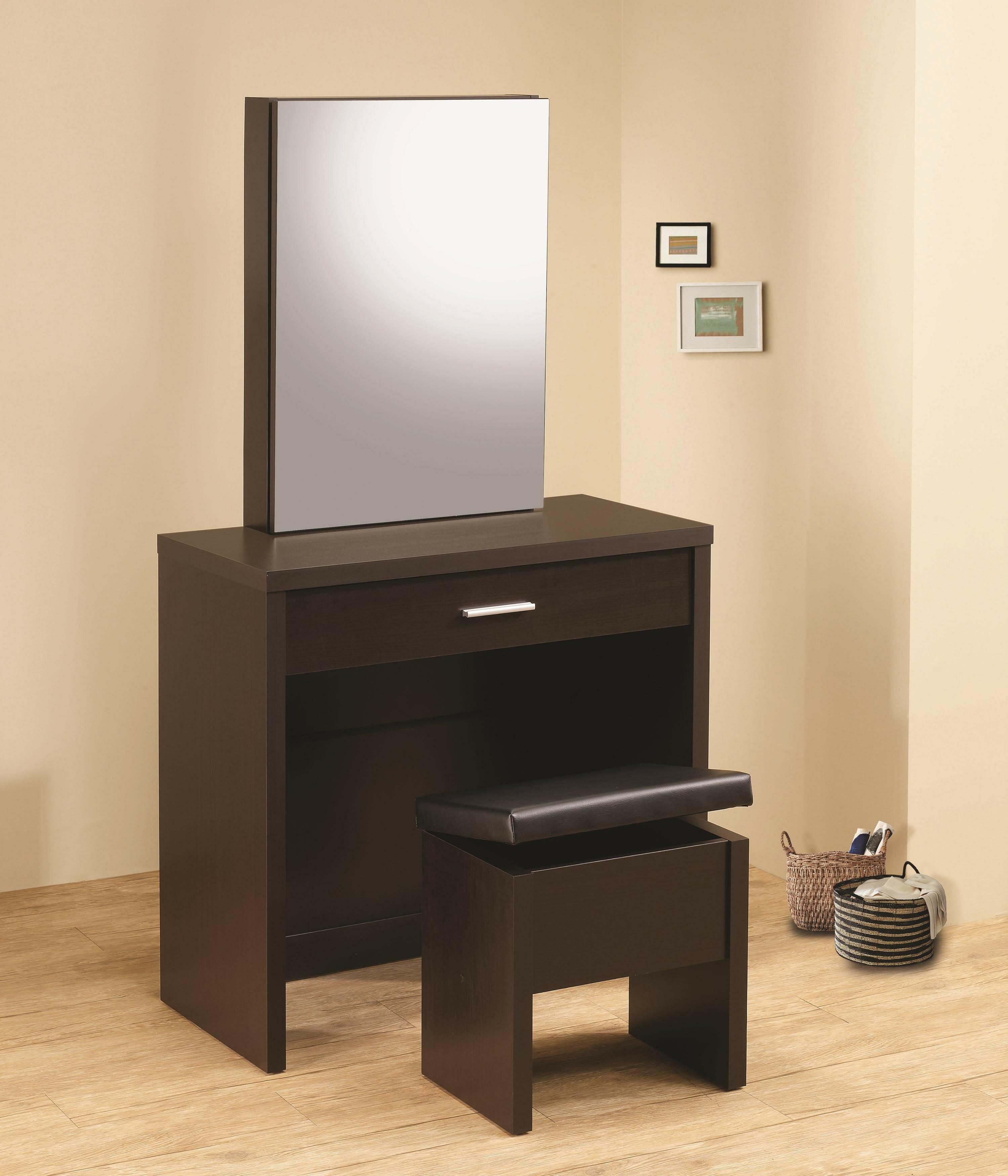 Ivy Bronx Kraig Glossy Vanity Set With Mirror Wayfair
