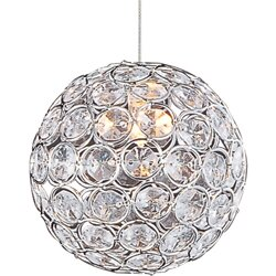 Devereaux 1-Light Crystal Pendant by Willa Arlo Interiors