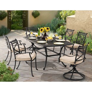 Regina 7 Piece Dining Set with Cushions by Canora Grey