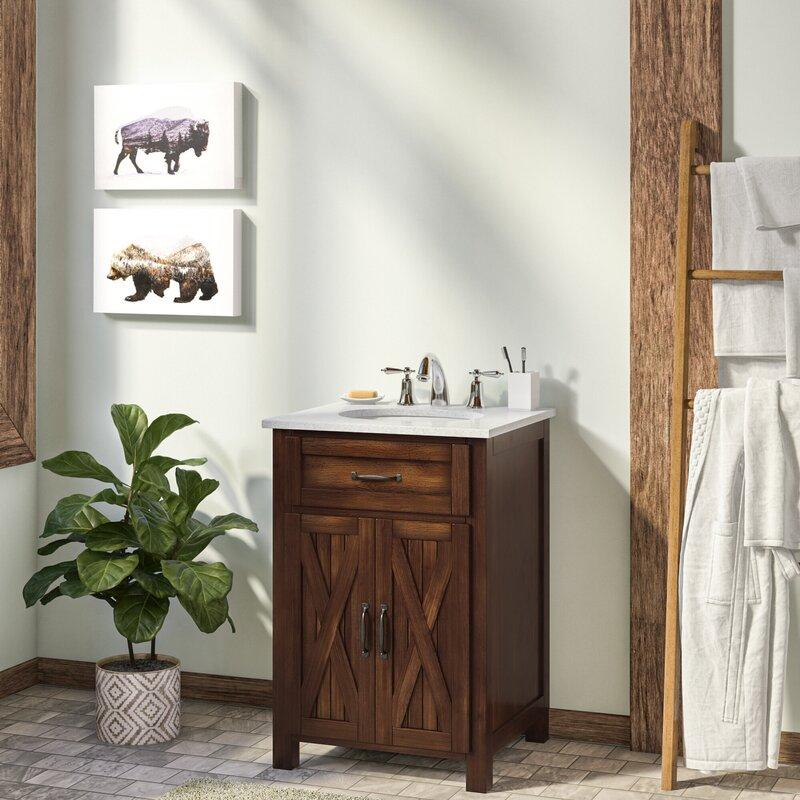 Millwood Pines Maud 24 Single Bathroom Vanity Set Reviews Wayfair