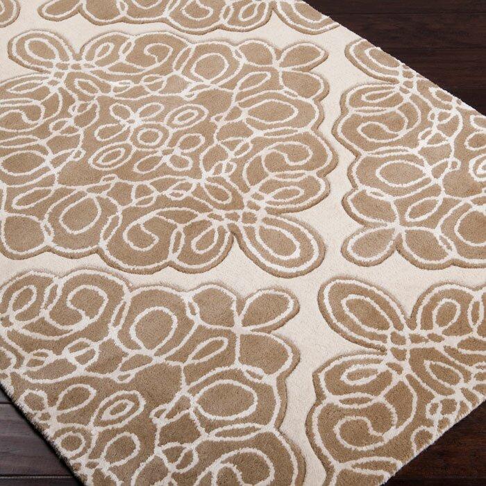 Candice Olson Damask Handmade Tufted Wool Brown Area Rug Wayfair