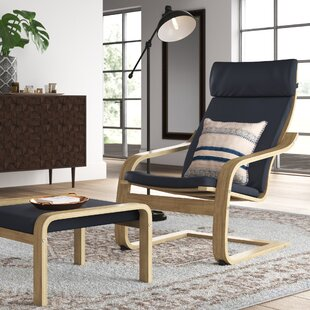 Gans Bentwood Recliner and Ottoman by Ebern Designs