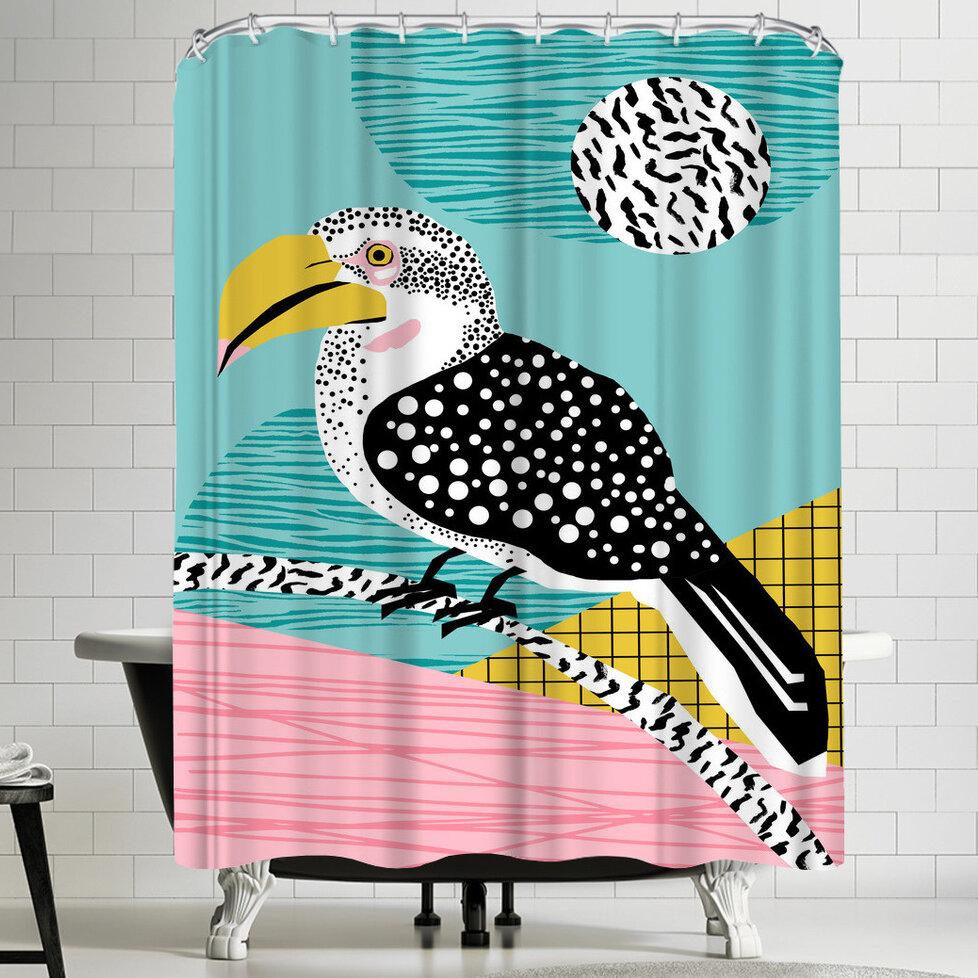 East Urban Home Wacka Designs What Single Shower Curtain Wayfair