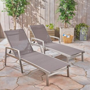 Keyes Reclining Chaise Lounge (Set Of 2) by Orren Ellis Great Reviews