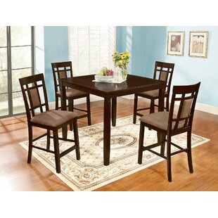 Ighli 5 Piece Counter Height Dining Set