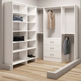 Demure Design 75W - 84.25W Closet System ByTidySquares Inc.