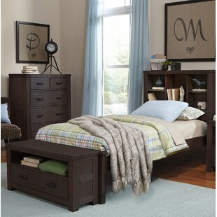 Stella Twin Bookcase Bed with Trundle
