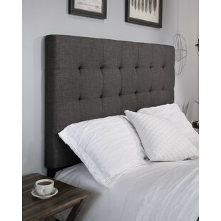 Compare prices Almendarez Upholstered Panel Headboard by Darby Home Co