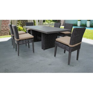 Mejia 7 Piece Outdoor Patio Dining Set with Cushion