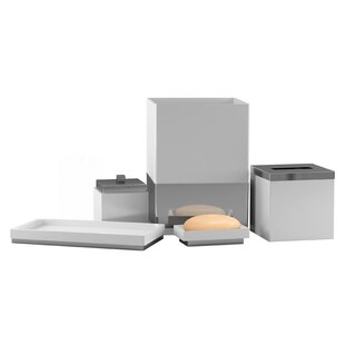 black crackle bathroom accessories. Allee Crackle 5 Piece Bathroom Accessory Set Bath Sets You Ll Love