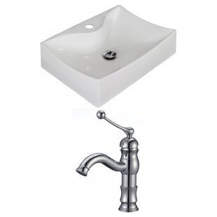 Best Ceramic Rectangular Vessel Bathroom Sink with Faucet ByAmerican Imaginations