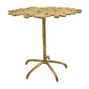 Best Florissant Gold Side Table by Bloomsbury Market