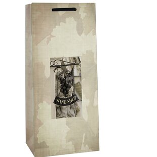 Printed Wine Shop Two Bottle Carrier