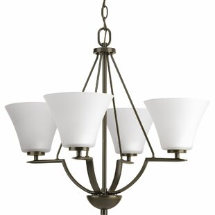 Karla 4-Light Shaded Chandelier by Fleur De Lis Living