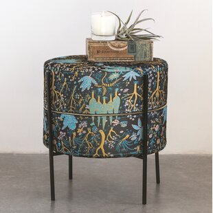 Jendrik Round Chinoiserie Printed Accent Stool by World Menagerie