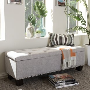 Back Bay Upholstered Storage Bench Alcott Hill