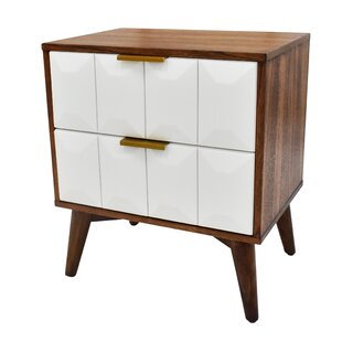 Erikson 2 Drawer Nightstand by Wrought Studio