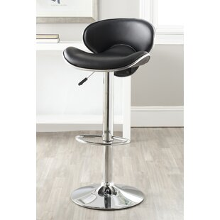 Rebbecca Adjustable Height Swivel Bar Stool Orren Ellis