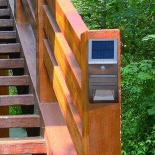 Hamman Wall Security LED Solar Outdoor Bulkhead Light (Set Of 2) Image
