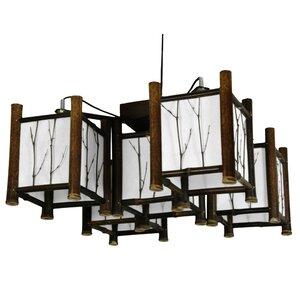 Watashi 5-Light Japanese Hanging Lantern Chandelier