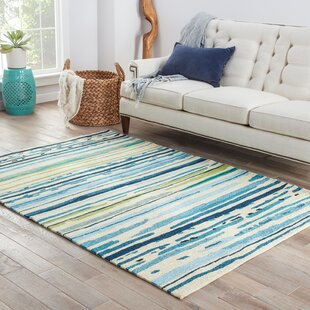 Angelina Hand-Hooked Polypropylene Blue/Green Indoor/Outdoor Area Rug