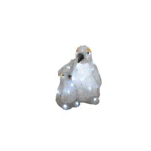 Price Sale 2 Piece Penguin Lit Acrylic Christmas Lighted Display