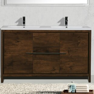 Price comparison Almendarez Free Standing Modern 59 Double Bathroom Vanity Set By Langley Street