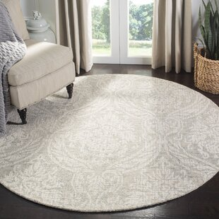Vogler Abstract Hand-Tufted Wool Gray/Ivory Area Rug by Ophelia & Co.