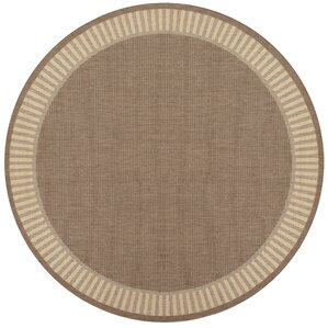 Westlund Wicker Stitch Cocoa/Natural Indoor/Outdoor Area Rug