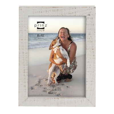 Prinz Sweet Water Distressed Solid Wood Picture Frame Size: 8 x 10, Color: Natural