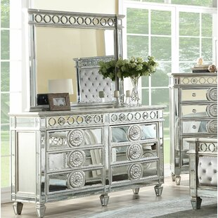 Montana 8 Drawer Double Dresser with Mirror By Rosdorf Park