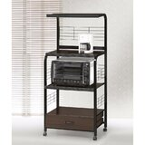 Galien Metal Kitchen Cart with Solid + Manufactured Wood Top by Ebern Designs