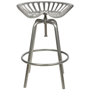 Industrial Heritage Adjustable Height Swivel Bar Stool