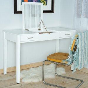 haven home vanity desk with mirror