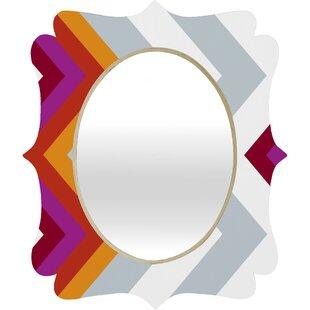 Deny Designs Karen Harris ity Solstice Warm Chevron Quatrefoil Accent Mirror