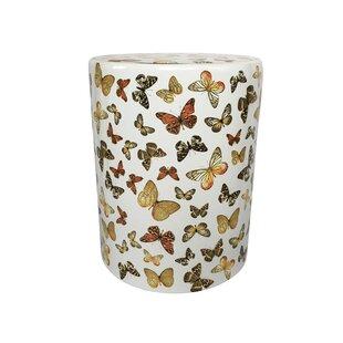 Helfrich Ceramic Butterfly Pattern Garden Stool