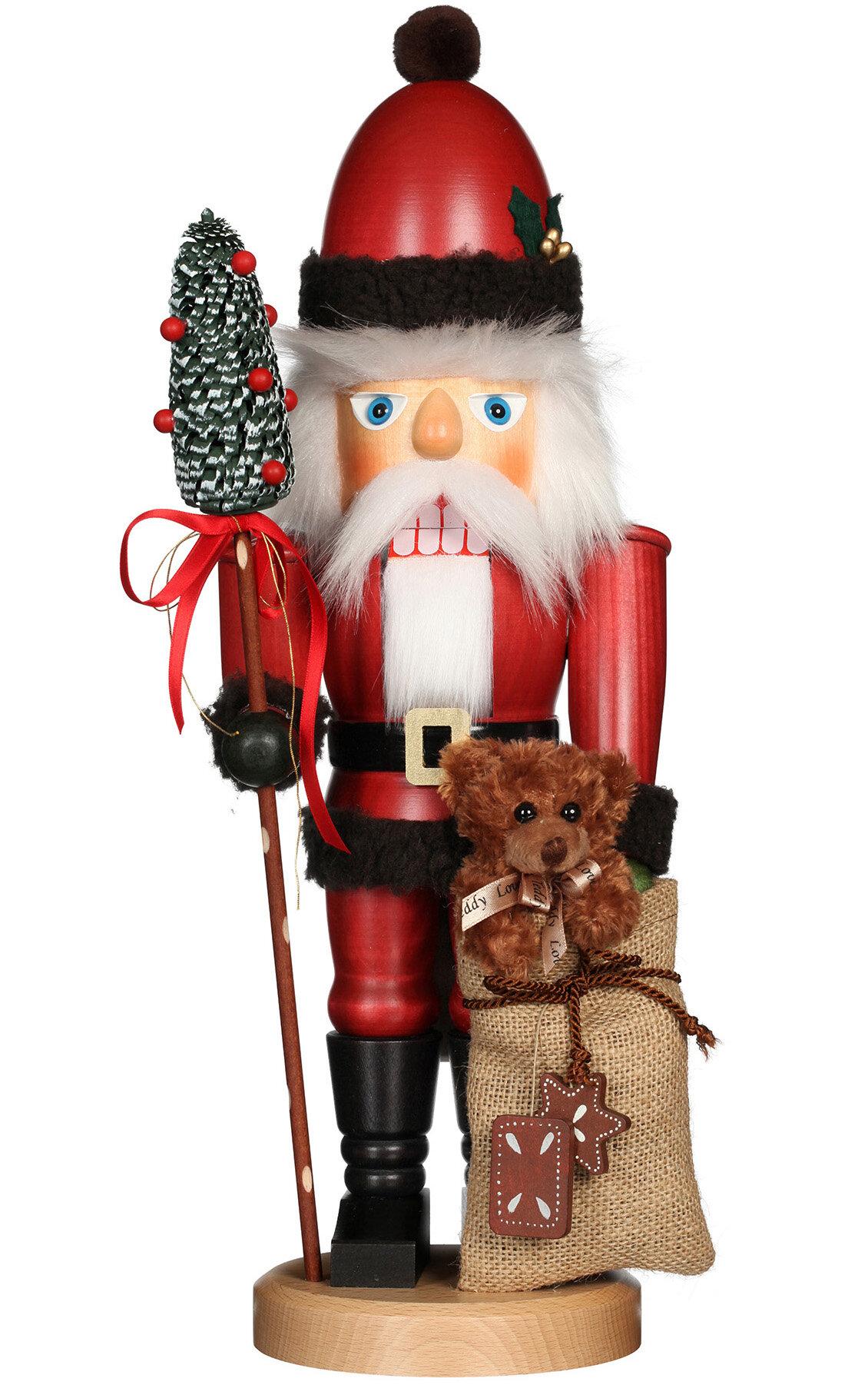 The Holiday Aisle Santa With Teddy Bear Nutcracker Wayfair Ca