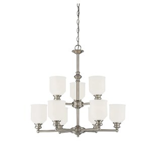 Charlton Home Genevieve 9-Light Shaded Chandelier