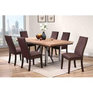 Tickenham 7 Piece Solid Wood Dining Set Union Rustic