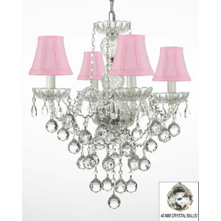 Kilpatrick 4-Light Shaded Chandelier by House of Hampton