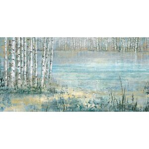 'Lake Trees' Print on Wrapped Canvas