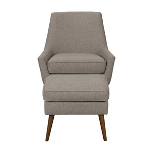 George Oliver Ealy Modern Armchair with Ottoman