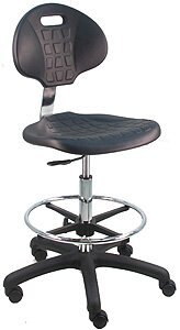 Symple Stuff Adjustable Cleanroom Lab Upholstered Drafting Chair