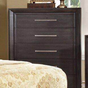 Krout Wooden Media 5 Drawer Standard Dresser