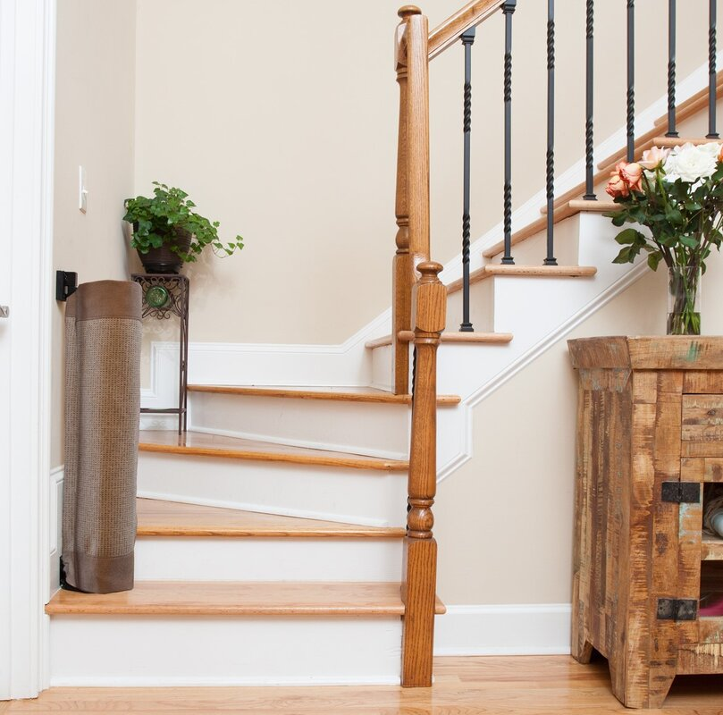 TheStairBarrier Wall to Banister Safety Gate & Reviews | Wayfair